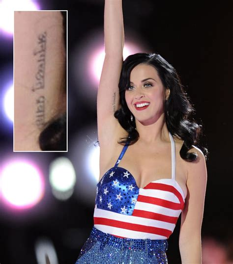 katy perry new tattoo 2014 the meaning behind famous celebrity tattoos lipstiq com