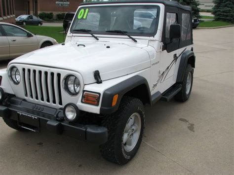 2001 Jeep Wrangler Top Purchase Used 2001 Jeep Wrangler Se 2 5l 4 Cylinder Auto