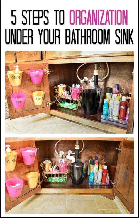 organize under the bathroom sink 17 best ideas about bathroom sink organization on