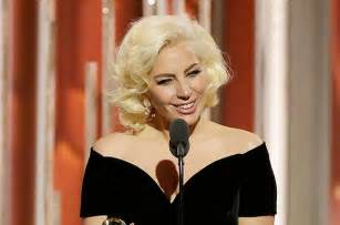 Lady gaga accepts the award for best actress limited series or tv