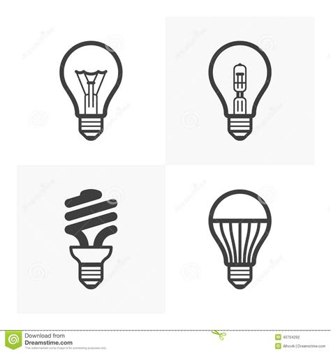 various light bulb icons stock vector image of glass