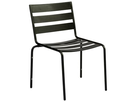 Black Wrought Iron Dining Chairs Woodard Cafe Series Wrought Iron Stackable Dining Chair In Textured Black 110002 92