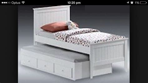 Single Bed With Trundle And Drawers by Trundle Single Bed White With Drawers With Matts
