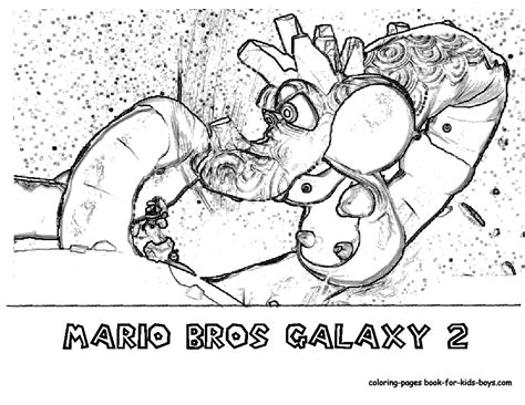 Galaxy 2 Coloring Pages transmissionpress wii mario galaxy 2 coloring pages