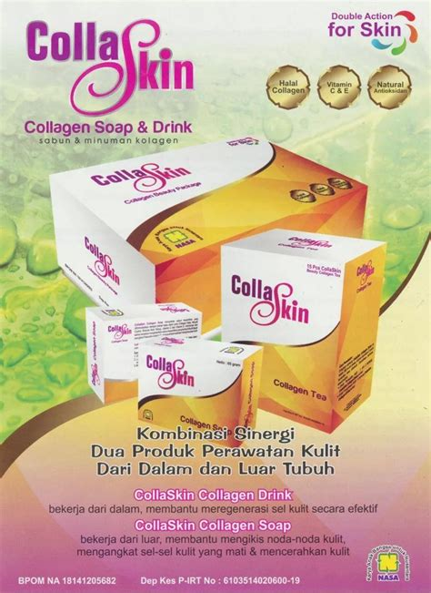 Collaskin Produk Nasa 30 Kantung Teh 2 Sabun Herbal Kecantikan collaskin collagen