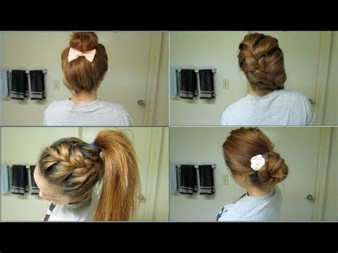 easy hairstyles for the day of high school 5 easy back to school hairstyles