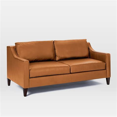 72 leather sofa paidge leather sofa 72 5 quot west elm