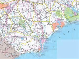 road map of eastern carolina maps
