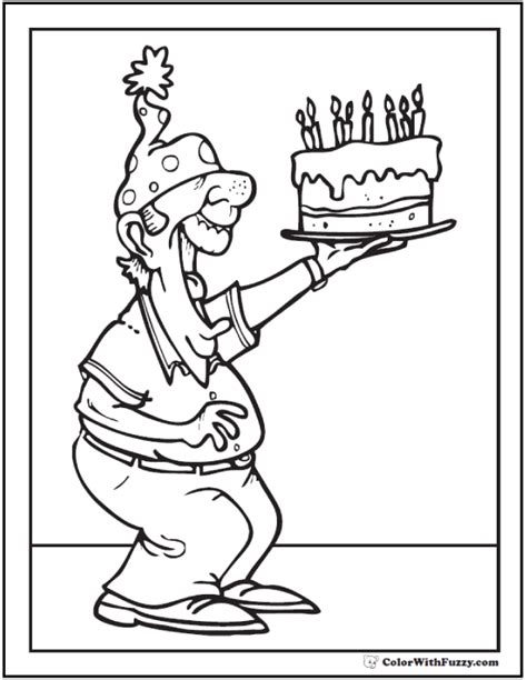 happy birthday papa coloring page 55 birthday coloring pages customizable pdf