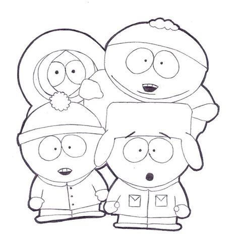 South Park Coloring Pages Coloring Pages Of South Park Coloring Home