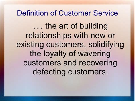 service definition customer service general