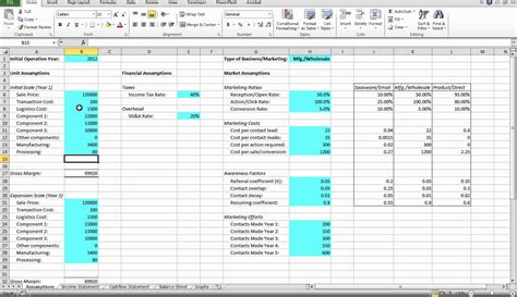 business financial model template financial model tutorial