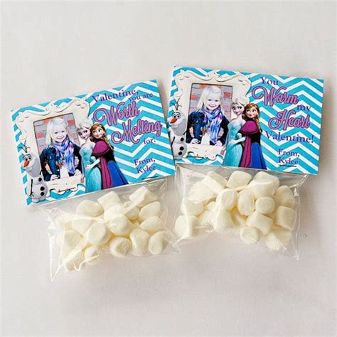 printable olaf bag toppers diy frozen printable custom photo valentine treat bag