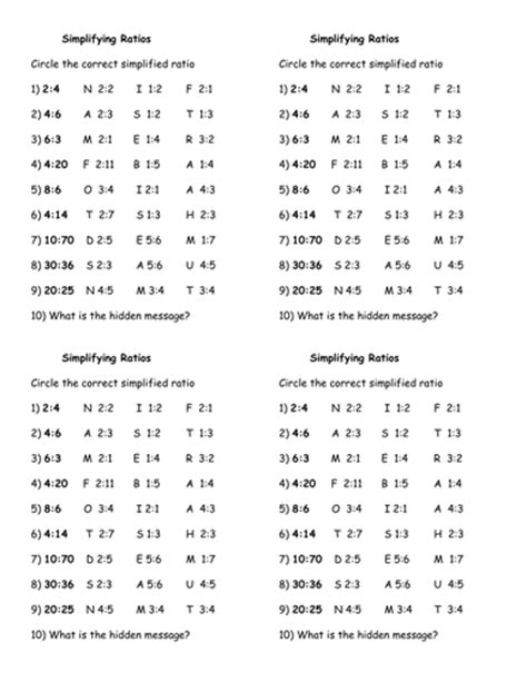 Simplifying Ratios Worksheet by Addition 187 Addition Worksheets With Message Free