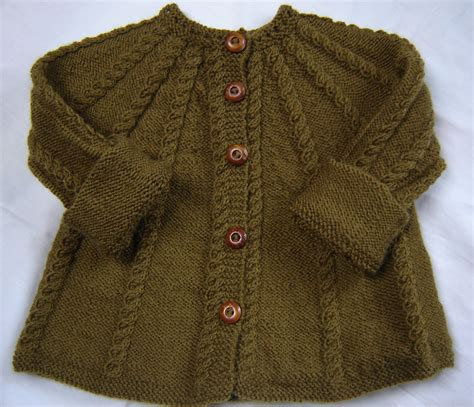baby cardigan sweater baby sweater knit wool olive green size 3m