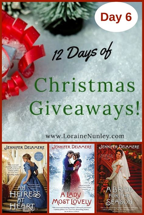 Christmas Giveaways 2017 - 12 days of christmas giveaways 2017 day 6 loraine d nunley author