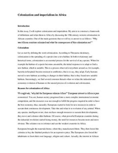 Imperialism In Africa Essay by College Essays College Application Essays Imperialism Essay