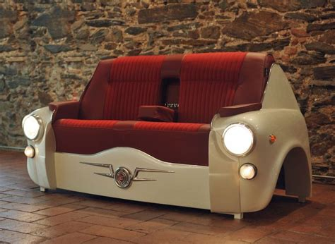 sofa auto sofa 600 car brings vintage ride into your living room