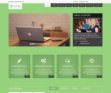 Free Website Html5 Templates by Gloss Free Html5 Website Template Ecology Theme