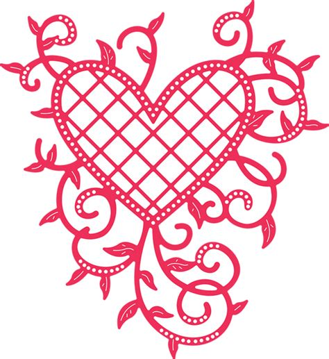 heart vine pattern b368 lattice heart vines cheery lynn doily die