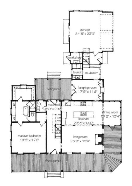 southern living idea house plans farmhouse revival print southern living house plans