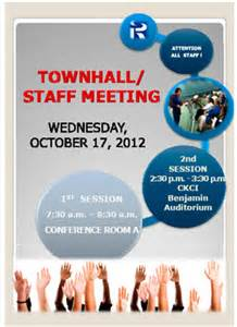 event details gt townhall staff meeting