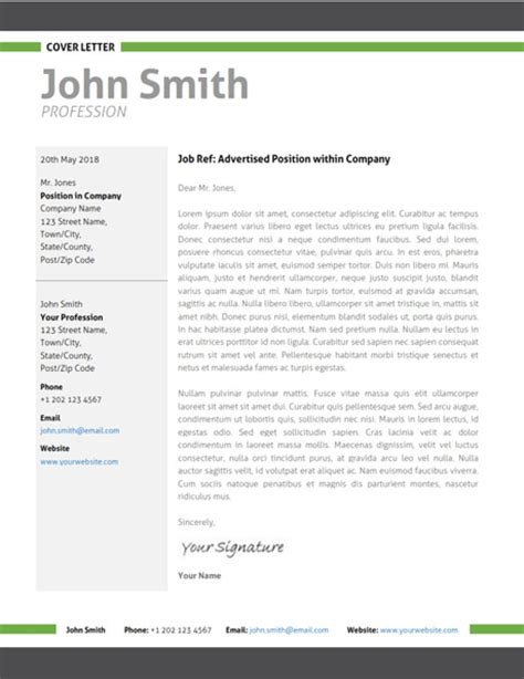Modern Cover Letter modern resume template cover letter portfolio