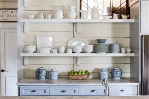 country kitchen shelf the benefits of open shelving in the kitchen hgtv s