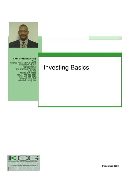 Start Consulting After Mba Nonresident Llc by Investing Basics Presentation