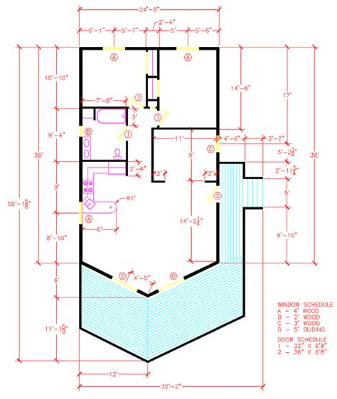 autocad floor plan tutorial learn to draw in autocad accurate with video