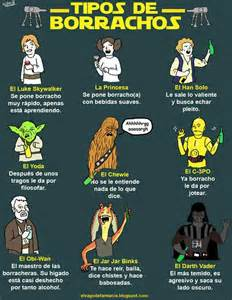 Tipos de borrachos versi 243 n star wars imagenes chistosas fotos