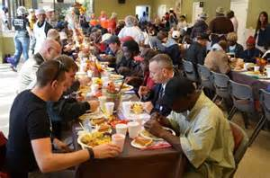 thanksgiving dinner for the homeless 700 homeless get taste of thanksgiving wednesday at city