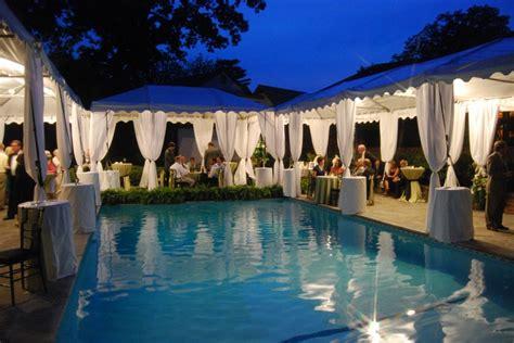 Pool Wedding Decoration Ideas by Poolside Reception Tents Wedding Lounge Ideas