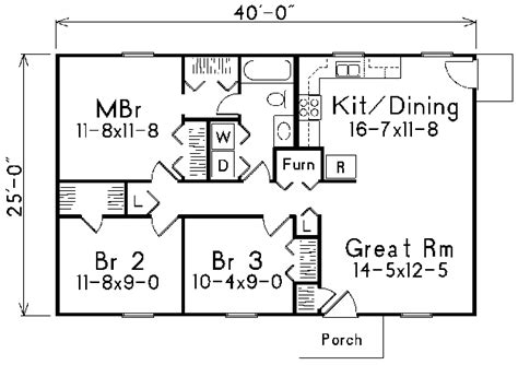 25 x 40 one room cabin plans cabin plans house plans home plans and floor plans from ultimate plans