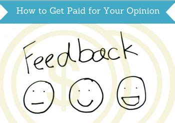 Get Paid For Opinions - how to get paid for your opinion featured