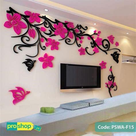 flower acrylic wall stickers butterflies dancing