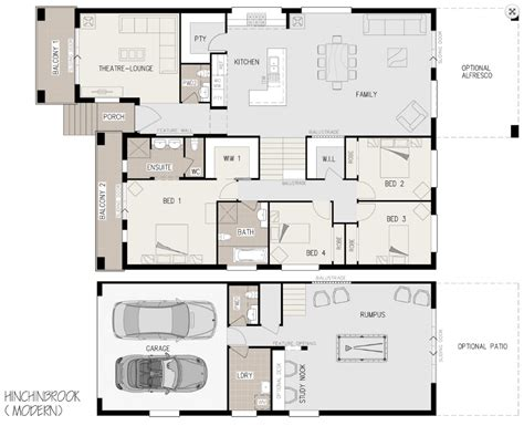 Floor Plans For Sloping Blocks | floor plan friday sloping block with level rear katrina