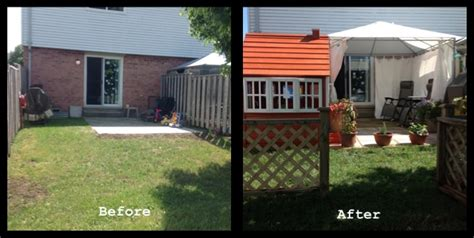backyard renovations before and after pardon my poppet wahm social media guru parenting