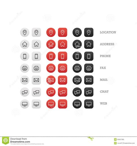 business cards templates icons multipurpose business card icon set of web icons for
