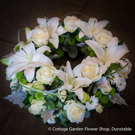 Rose Lily Wreath The Cottage Garden Flower Shop Cottage Garden Flower Shop