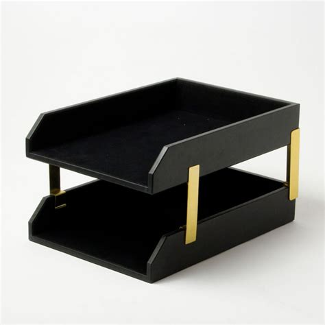 Office Desk Sets Leather Letter Tray Leather Desk Sets Conference Pads And Leather Office Accessories