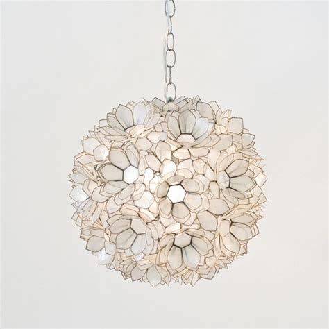 Lotus Capiz Chandelier Worlds Away Capiz Lotus Pendant Traditional Pendant