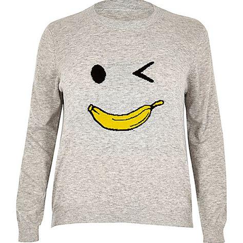 jumper banana plus grey knit banana jumper jumpers knitwear