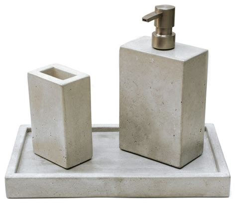 Concrete Bath Set Modern Bathroom Accessories By Bathroom Countertop Accessories