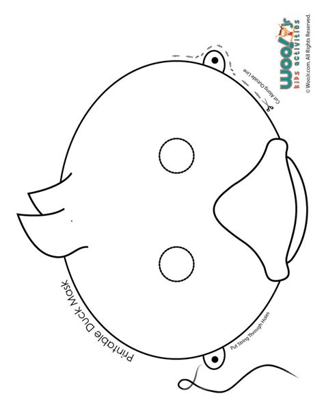 printable paper animal masks for kids easter duckling coloring page mask printable woo jr