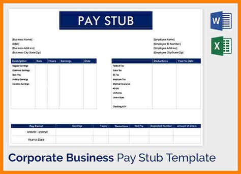 Truck Driver Pay Stub Template 5 Truck Driver Pay Stub Template Sles Of Paystubs