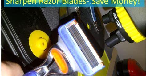 sharpen razor blades sharpen disposable razor blades and save money