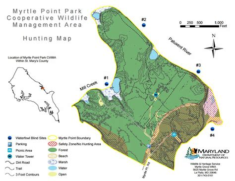 maryland dnr map deer opens at myrtle point park cooperative