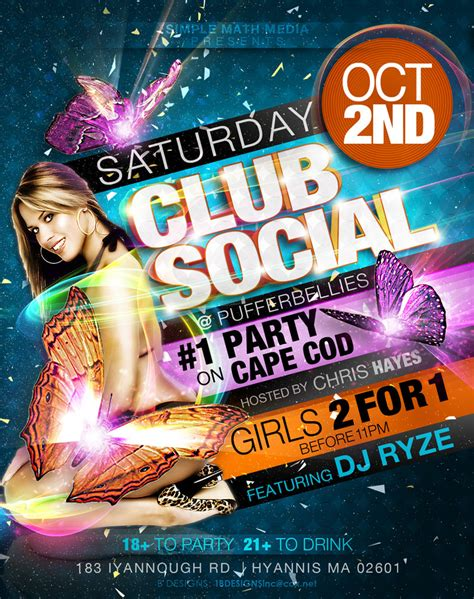 club flyer club social flyer 2 by anotherbcreation on deviantart