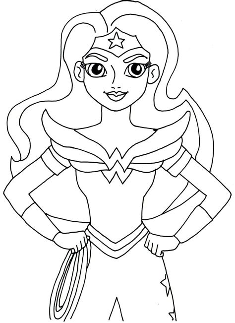 Free Printable Super Hero High Coloring Pages Wonder Heroes Color Pages